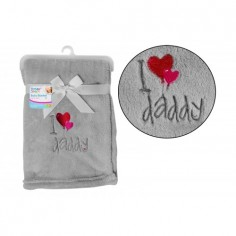 Paturica moale I love daddy First Steps