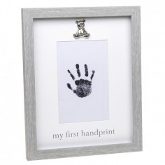 Rama foto gri cu amprenta cerneala - My first Handprint Nespecificat