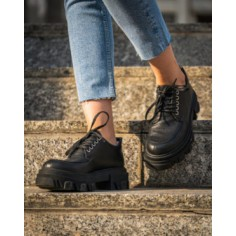 Pantofi Casual VFTS Black Leather - 38 MineliRomania