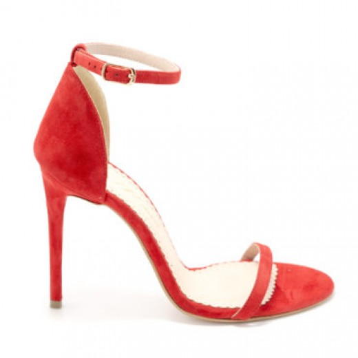 Sandale Sally Silver Glitter - Red, 38