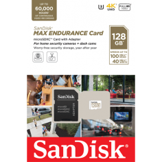 Card MicroSD 128GB, seria MAX Endurance - SanDisk SDSQQVR-128G-GN6IA SanDisk