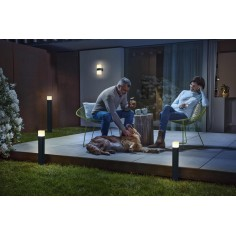 Aplica de exterior LED Ledvance SMART CUBE MULTICOLOR Updown, RGBW, 13.5W, lumina calda, 4058075478077 OSRAM