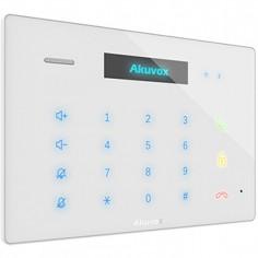 "Audio interfon IP SIP, cu afisaj OLED de 2.23"", tastatura numerica si icoane tactile iluminate, front de sticla Akuvox"