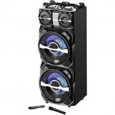 Boxa activa fixa AKAI DJ-T5, dual USB, card SD, Bluetooth, microfon wireless si telecomanda, 300W AKAI