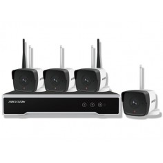 Kit wifi supraveghere video format din 1 NVR cu 4 canale 4 camere de 2MP HDD 1TB WD Hikvision