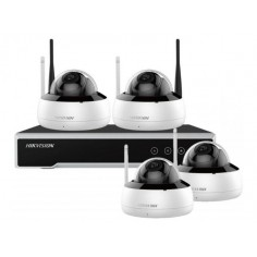 Kit wifi supraveghere video format din 1 NVR cu 4 canale 4 Camere de 4MP HDD 1TB WD Hikvision