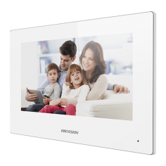 Monitor videointerfon TCP/IP Wireless, Touch Screen TFT LCD 7inch , alb - HIKVISION DS-KH6320-WTE1-W Hikvision