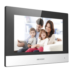 Monitor videointerfon Touch Screen TFT LCD 7 inch, conectare 2 fire, Wifi - HIKVISION DS-KH6320-WTE2 Hikvision