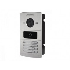 Post de exterior cu 4 butoane de apelare, camera HD de 1.3MP Hikvision