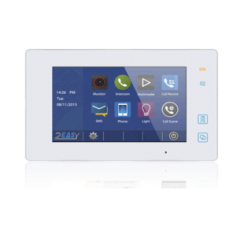 Post de interior video pe 2 fire, cu touchscreen, alb DT47MG-TD7-wh 2easy