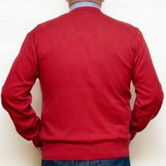 Pulover rosu caramiziu cu anchior, Marime 3XL Nespecificat