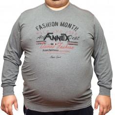 Bluza subtire gri cu imprimeu la baza gatului , Marime 2XL Nespecificat