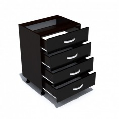 Corp inferior 60 cu 4 sertare Zebra negru Spectral