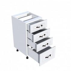Corp inferior 40 cu 4 sertare Zebra MDF alb drept Spectral