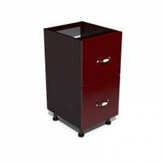 Corp inferior 40 cu 2 sertare metalice pentru greutate Zebra MDF rosu simplu Spectral