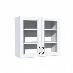 Corp superior vitrina 80 cu 2 usi Zebra MDF alb drept Spectral