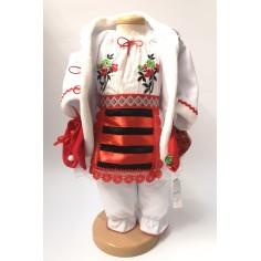 Set costum popular Alexandra pentru fetite si Lumanare botez, 3 luni Nespecificat