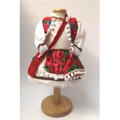 Set costum popular Ana pentru fetite si Lumanare botez, 3 luni Nespecificat