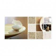 Panou bucatarie, protectie plita, aragaz, antistropire, print UV model Textura 26 100x50 cm Decoglass