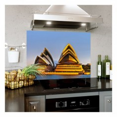 Panou bucatarie, protectie plita, aragaz, antistropire, print UV model Sydney 60x50 cm Decoglass