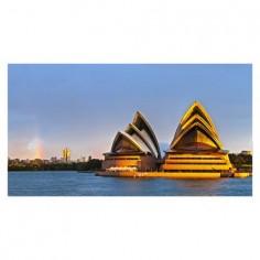 Panou bucatarie, protectie plita, aragaz, antistropire, print UV model Sydney 100x50 cm Decoglass