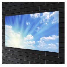 Tablou sticla securizata, Peisaj însorit de primăvară 90x60 cm Decoglass