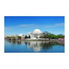 Panou bucatarie, protectie plita, aragaz, antistropire, print UV model Thomas Jefferson Memorial 120x60 cm Decoglass