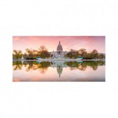 Panou bucatarie, protectie plita, aragaz, antistropire, print UV model Visit Washington 60x60 cm Decoglass