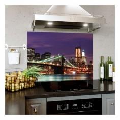 Panou bucatarie, protectie plita, aragaz, antistropire, print UV model Priveliste Pod Suspendat 120x60 cm Decoglass