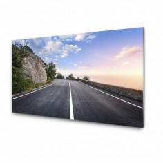 Tablou sticla securizata drum Munte Crimeea 125x50 cm Decoglass