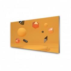 Panou antistropire pentru bucatarie, sticla securizata, model Abstract Forme Geometrice 90x60 cm Decoglass
