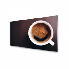 Panou antistropi bucatarie, sticla securizata, model Cafea Proaspata 120x60 cm Decoglass