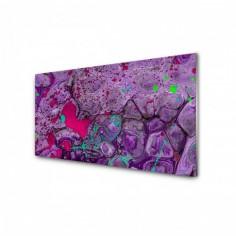Panou antistropire pentru bucatarie, sticla securizata, model Abstract is Purple 100x50 cm Decoglass