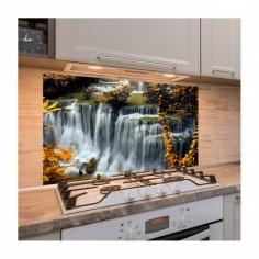 Panou antistropire pentru bucatarie, sticla securizata, model Cascada 2 120x60 cm Decoglass