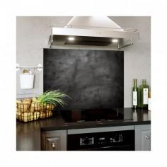 Placa decorativa din sticla securizata pentru bucatarie, antistropire, Texture Black 120x60 cm Decoglass