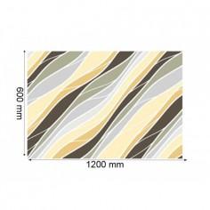 Panou bucatarie, protectie plita, aragaz, antistropire, print UV model Valuri Abstract 125x50 cm Decoglass