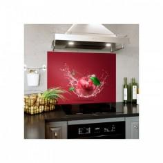 Panou decorativ bucatarie, protectie plita, antistropire, Red Apple 120x60 cm Decoglass
