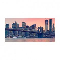 Panou bucatarie, protectie plita, aragaz, antistropire, print UV model New York City 100x50 cm Decoglass