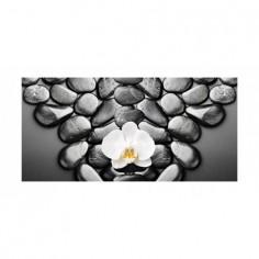Panou bucatarie, protectie plita, aragaz, antistropire, print UV model Peisaj Orhidee Alba 125x50 cm Decoglass