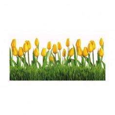Panou bucatarie, protectie plita, aragaz, antistropire, print UV model Lalele Galbene 60x50 cm Decoglass