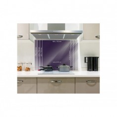 Panou sticla securizata bucatarie, protectie plita, antistropire, Cappucino 60x60 cm Decoglass