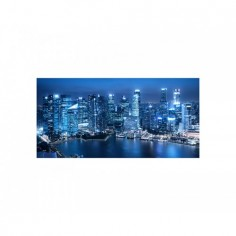 Decor perete bucatarie, protectie aragaz, City by Night 60x50 cm Decoglass