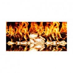 Panou bucatarie, protectie plita, aragaz, antistropire, print UV model Flacari 60x50 cm Decoglass