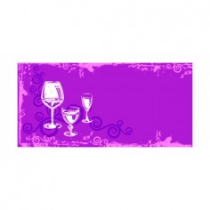 Panou bucatarie, protectie plita, aragaz, antistropire, print UV model Pahare cu Picior 125x50 cm Decoglass