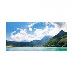 Panou bucatarie, protectie plita, aragaz, antistropire, print UV model Peisaj Montan de Zi 60x60 cm Decoglass
