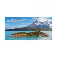 Panou bucatarie, protectie plita, aragaz, antistropire, print UV model Peisaj Montan Insorit 120x60 cm Decoglass