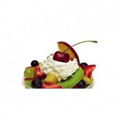 Panou bucatarie, protectie plita, aragaz, antistropire, print UV model Salata de Fructe cu Frisca 60x60 cm Decoglass