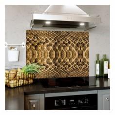 Panou bucatarie, protectie plita, aragaz, antistropire, print UV model Textura 8A 60x50 cm Decoglass