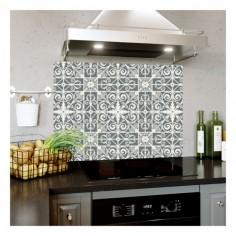 Panou bucatarie, protectie plita, aragaz, antistropire, print UV model Abstract Tapet 3A 60x50 cm Decoglass