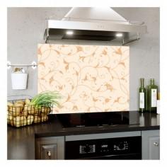 Panou bucatarie, protectie plita, aragaz, antistropire, print UV model Abstract Floral 2 120x60 cm Decoglass